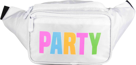 Fanny Pack White Neon Party Fanny Pack - SoJourner Bags