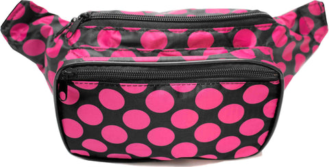Polka Dot Black & Pink Fanny Pack