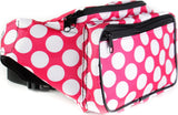 Polka Dot Fanny Pack (Pink) - SoJourner Bags - right