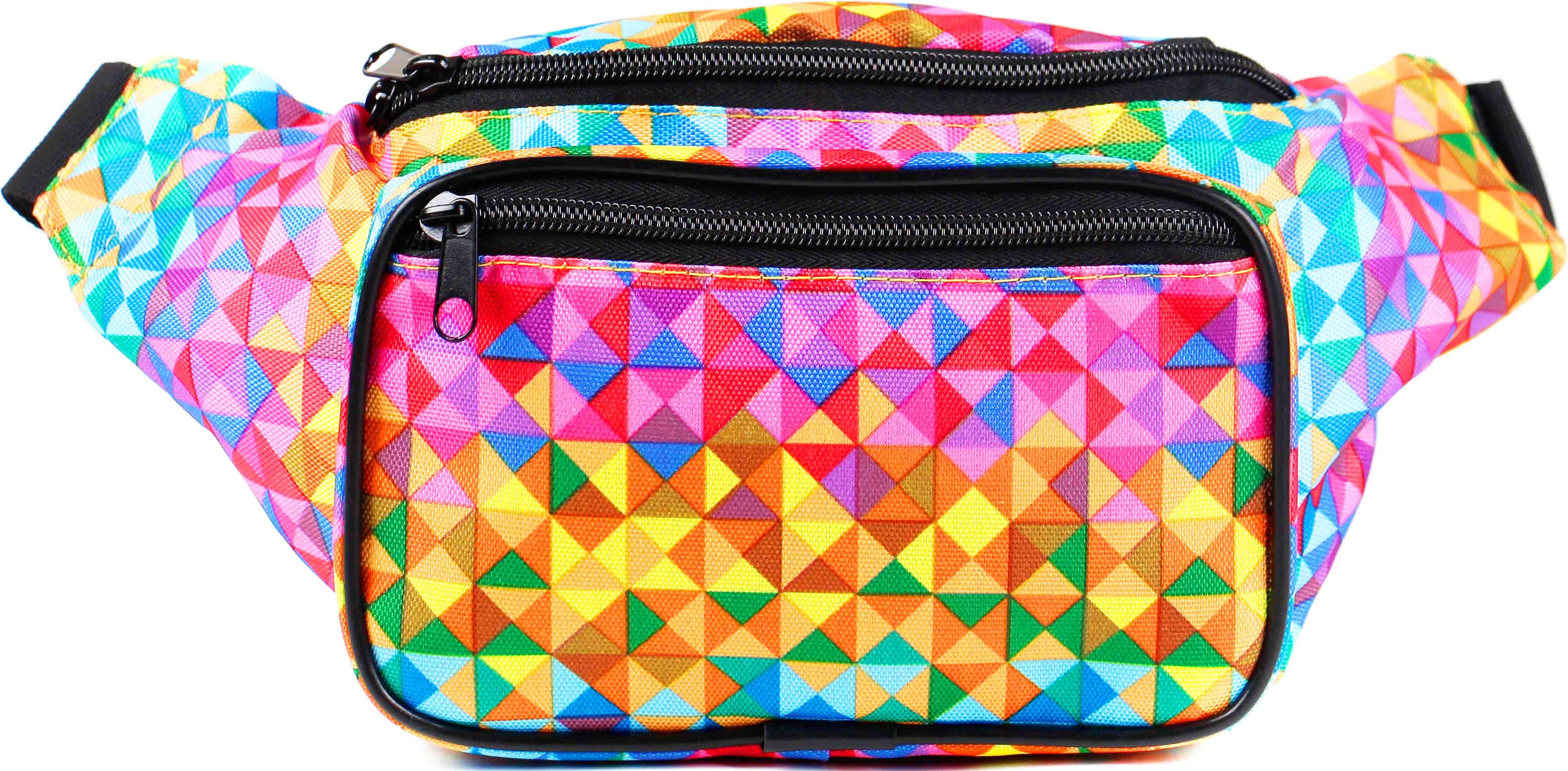 d65102eae7f Rainbow Rave Triangles Fanny Pack | SoJourner Bags