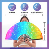 Fanny Pack SoJourner Bags Rave Hand Fan (Rainbow Paint) - SoJourner Bags