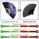 Fanny Pack SoJourner Bags Rave Hand Fan (Galaxy) - SoJourner Bags