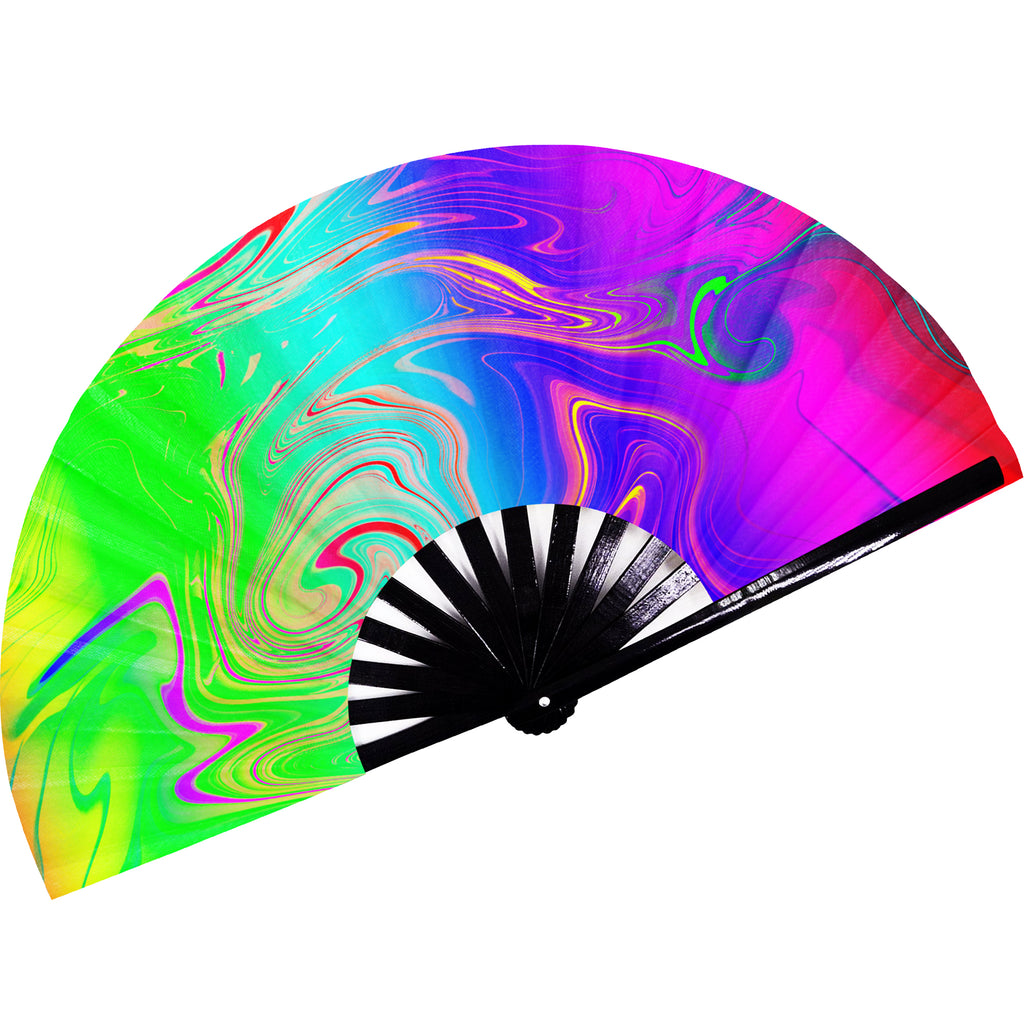 Fanny Pack SoJourner Bags Rave Hand Fan (Psychedelic 2) - SoJourner Bags