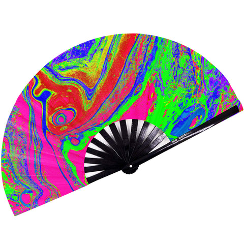Fanny Pack SoJourner Bags Rave Hand Fan (Psychedelic 1) - SoJourner Bags