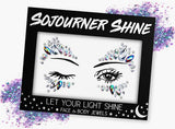 Fanny Pack Unicorn Eyes Face Jewels Glitter Gems Rhinestones Eye Body Jewels Gems - SoJourner Bags