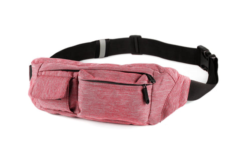 Fanny Pack 2-Pocket Red Fanny Pack - SoJourner Bags