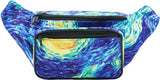 Fanny Pack Blue and Yellow Starry Night Fanny Pack - SoJourner Bags