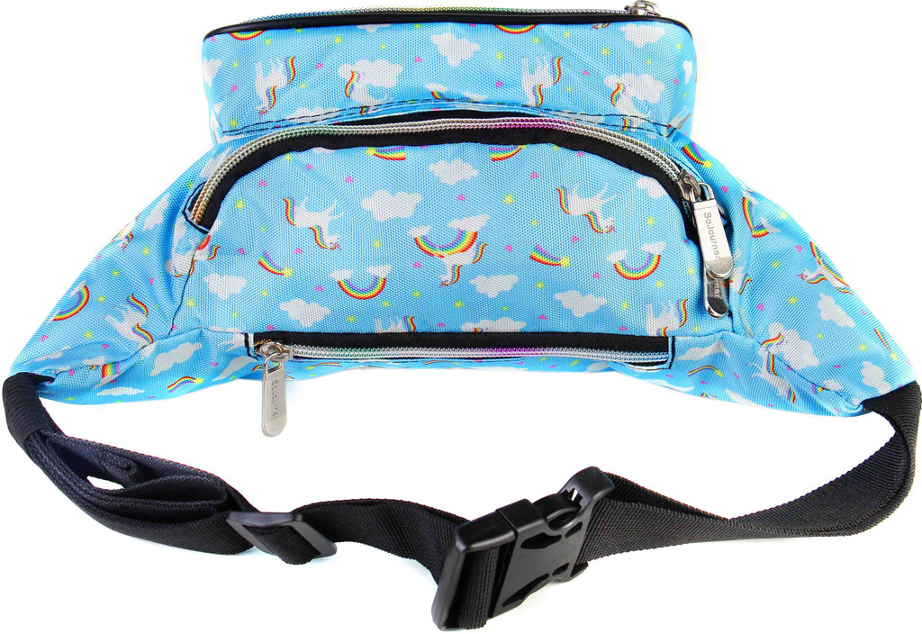 Waist Bags for Women Women, Rainbows and Unicorns Fanny Pack Great for Men