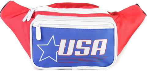 Fanny Pack USA Red White & Blue Star Fanny Pack - SoJourner Bags