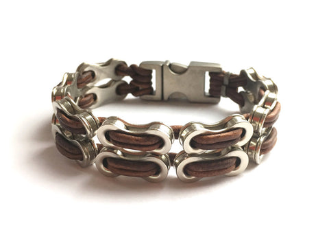 Double Links 2.0 Leather Bracelet