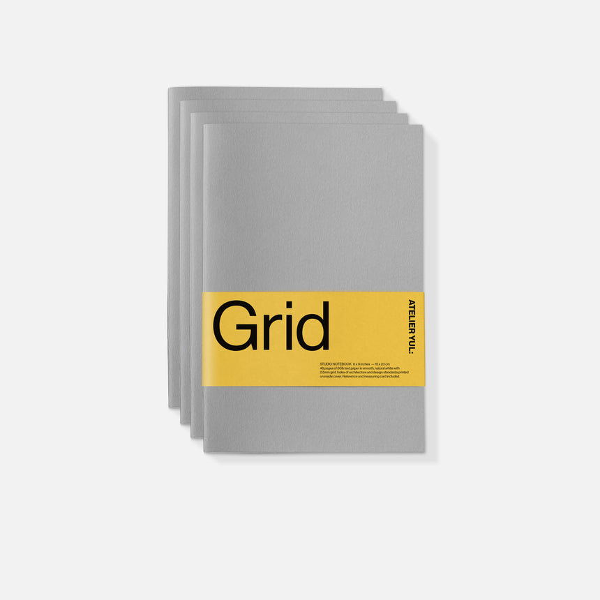 Grid Notebook 4-pack