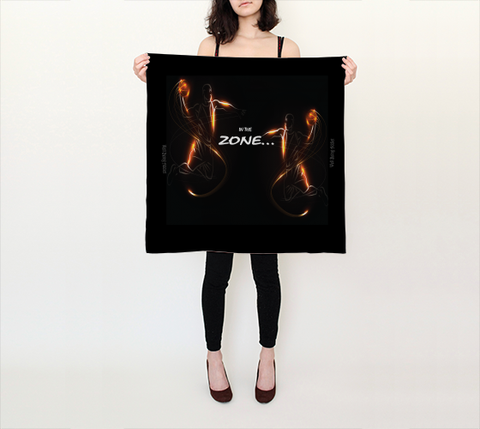 "Scarf Positive Spiritual Affirmations LOA ""IN THE ZONE. . ."""