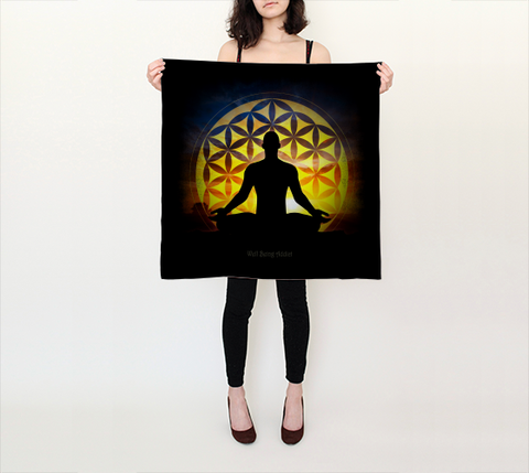 "SCARF-Spiritual Inspirational Affirmation ""Yoga"" - Well Being Addict.Com"