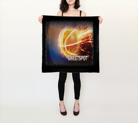 "Scarf - Spiritual Inspirational Affirmation -Basketball ""SWEETSPOT"""