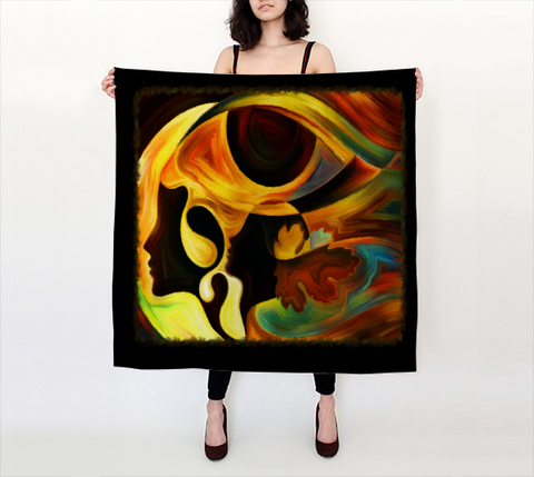 "Scarf - Spiritual Inspirational Affirmation  ""INTUITIVE"" - Well Being Addict.Com"