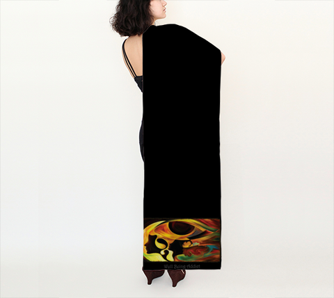 "Long Scarf - Spiritual Inspirational Affirmation  ""INTUITIVE"" - Well Being Addict.Com"