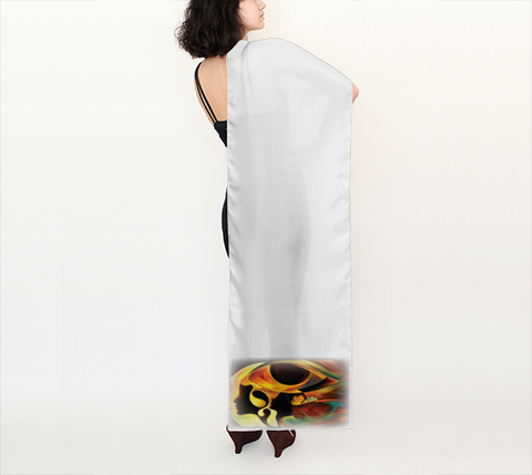 "Long Scarf - Spiritual Inspirational Affirmation  ""INTUITIVE"" 3 - Well Being Addict.Com"