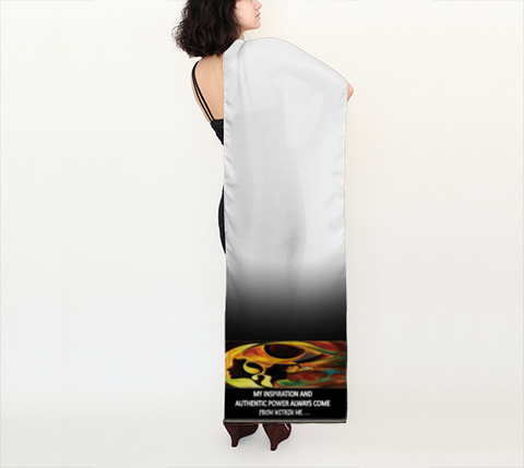 "Scarfs Positive Spiritual Affirmations LOA ""MY INSPIRATION AND AUTHENTIC POWER. . . ."
