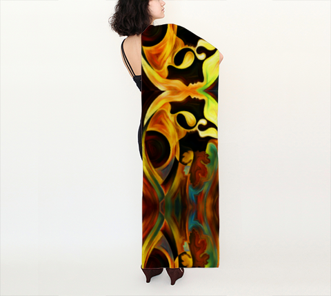 "Long Scarf - Spiritual Inspirational Affirmation ""INTUITIVE"" ALL - Well Being Addict.Com"