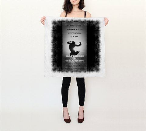 "Scarf - Spiritual Inspirational Affirmation ""I AM THE ONLY ONE RESPONSIBLE. . . ."""