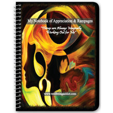"Load image into Gallery viewer, My Notebook of Appreciation & Rampages - ""LOA"" Deliberate Creating Processes - Well Being Addict.Com"