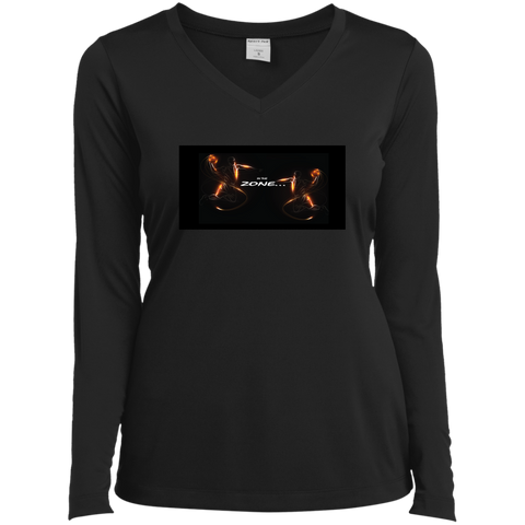 Customized Spiritual Inspirational Affirmations Ladies Long Sleeve Vneck Tee - basketball - Well Being Addict.Com