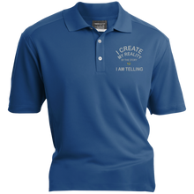 "Load image into Gallery viewer, Nike® Dri-Fit Polo Shirt-Spiritual Inspirational Affirmation – ""I Create my Reality. . ."" - Well Being Addict.Com"