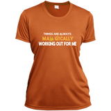 Ladies Short Sleeve Moisture-Wicking Shirt - Well Being Addict.Com