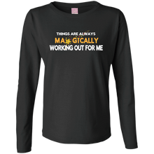 Load image into Gallery viewer, Ladies Long Sleeve Cotton TShirt - Well Being Addict.Com