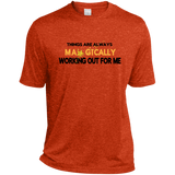 Heather Dri-Fit Moisture-Wicking Tee for Him - Well Being Addict.Com
