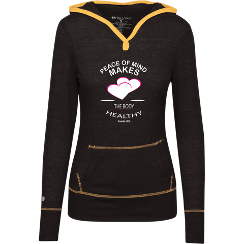 "Customized Biblical Inspirational Affirmations Junior Lightweight T-Shirt Hoodie ""Peace of Mind. . "" - Well Being Addict.Com"