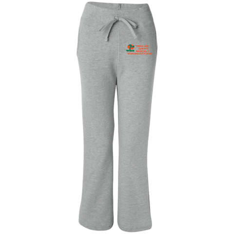 "Women's Open Bottom Sweatpants with Pockets""THINGS ARE ALWAYS MAGICALLY WORKING OUT FOR ME"""