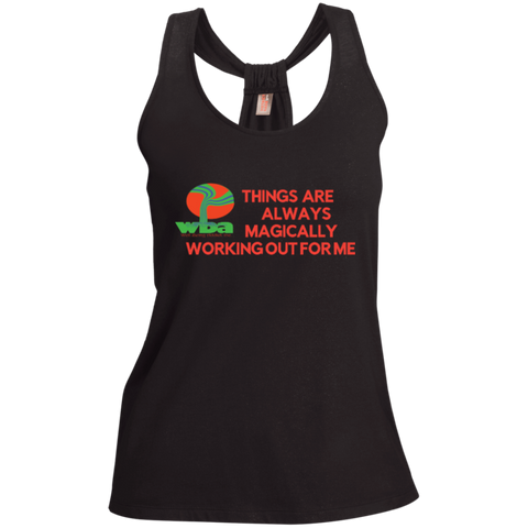 "Ladies Shimmer Loop Back Tank""THINGS ARE ALWAYS MAGICALLY WORKING OUT FOR ME"" - Well Being Addict.Com"