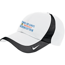 "Load image into Gallery viewer, Nike Colorblock Cap POSITIVE AFFIRMATION ""THINGS ARE ALWAYS MAGICALLY WORKING OUT FOR ME"" - Well Being Addict.Com"