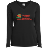 "Customized Spiritual Inspirational Affirmations Mindful Living -Ladies Long Sleeve -""Thing are Always.."""