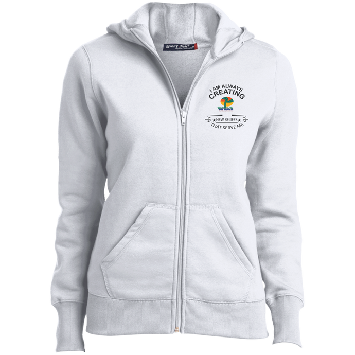 Customized Ladies Full-Zip Hoodie I am Always Creating - Well Being Addict.Com