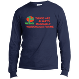 "Customized Spiritual Inspirational Affirmation Long Sleeve Made in the US T-Shirt ""Things . . """