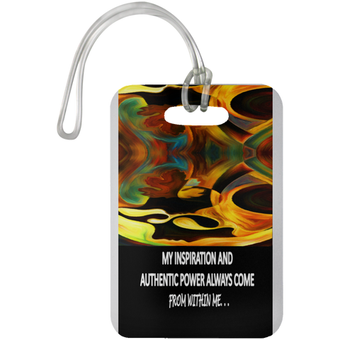 "LUGGAGE TRAVEL TAG POSITIVE AFFIRMATION ""MY INSPIRATION & AUTHENTIC POWER. . . """