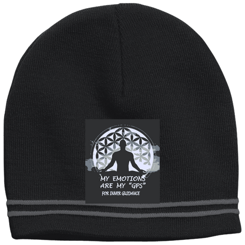 Customized Spiritual Inspirational Affirmation - Design Your Own Colorblock Beanie - Well Being Addict.Com