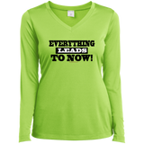 Ladies Long Sleeve Performance Vneck Tee - Well Being Addict.Com
