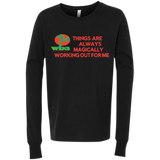 "Customized Spiritual Inspirational Affirmations Youth Jersey Long Sleeve "" Things are Always. . ."""