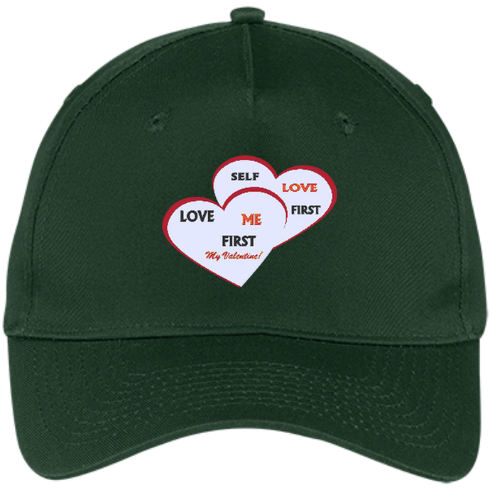 Five Panel Twill Cap - Love Me First - Well Being Addict.Com