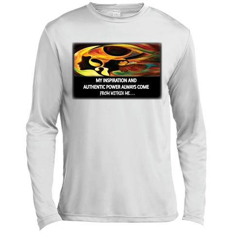 "Customized Spiritual Inspirational Affirmation Long Sleeve Moisture Absorbing Shirt M"" My Inspiration. . "" - Well Being Addict.Com"