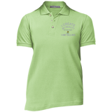 "Ladies' Cotton Pique Knit Polo-Customized Spiritual Inspirational Affirmation ""I Create my Reality. . "" - Well Being Addict.Com"