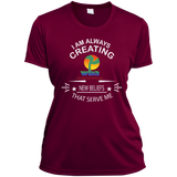 "Ladies Short Sleeve Moisture-Wicking Shirt Spiritual Inspirational Affirmation LOA "" I AM ALWAYS."" - Well Being Addict.Com"