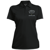 "Ladies Performance Polo - Positive Spiritual affirmation ""I create My Reality. . ."""
