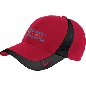 "Nike Colorblock Cap POSITIVE AFFIRMATION ""THINGS ARE ALWAYS MAGICALLY WORKING OUT FOR ME"" - Well Being Addict.Com"