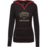 "Junior Lightweight T-Shirt Hoodie-Positive Inspirational Affirmations "" .... I Create my Reality "" - Well Being Addict.Com"
