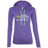 Ladies LS T-Shirt Hoodie - Well Being Addict.Com