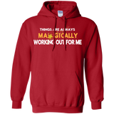 "Pullover Hoodie 8 oz POSITIVE AFFIRMATION ""THINGS ARE ALWAYS MAGICALLY WORKING OUT FOR ME"""